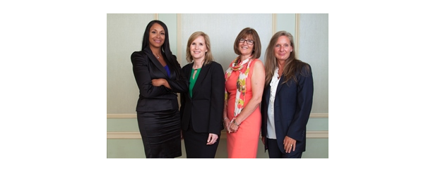 From the left Roanna Wilson of BlackBox, Rosalind Lehman of OnX, Erin Sherry of Unity Telecom & Iris Black of Metafore.