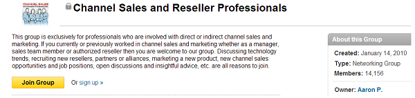 channel sales and reseller professionals