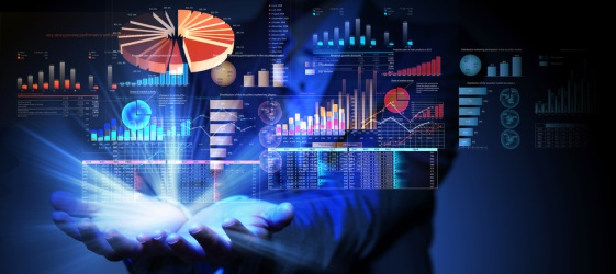 3D Graphic of Analytics Panels