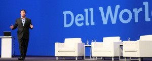 Dell CEO Michael Dell speaks to attendees at Dell World.