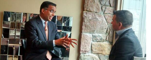 Armughan Ahmad, Dell's VP of Global Enterprise Solutions being interviewed by CDN