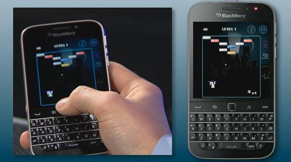 Brick Breaker running on the BlackBerry Classic