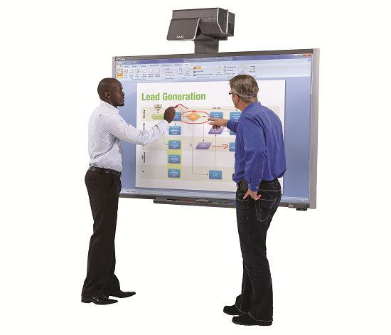A Smart Technologies interactive display.