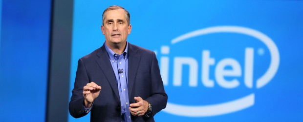 Intel CEO Brian Krzanich onstage at CES 2015