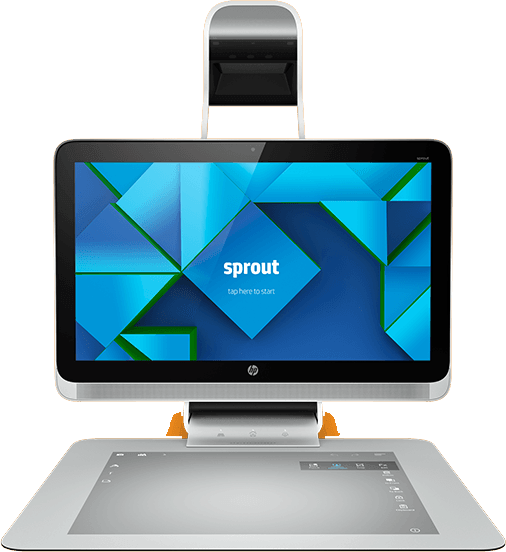 HP Sprout uses RealSense 3D camera technology