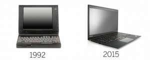 Lenovo Thinkpad 1992 vs 2015