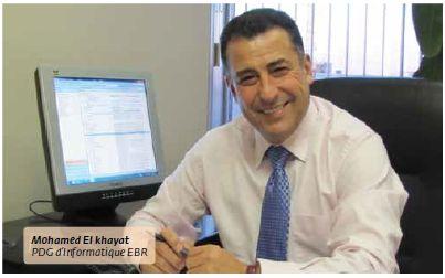 Mohamed El Khayat at the Informatique EBR office