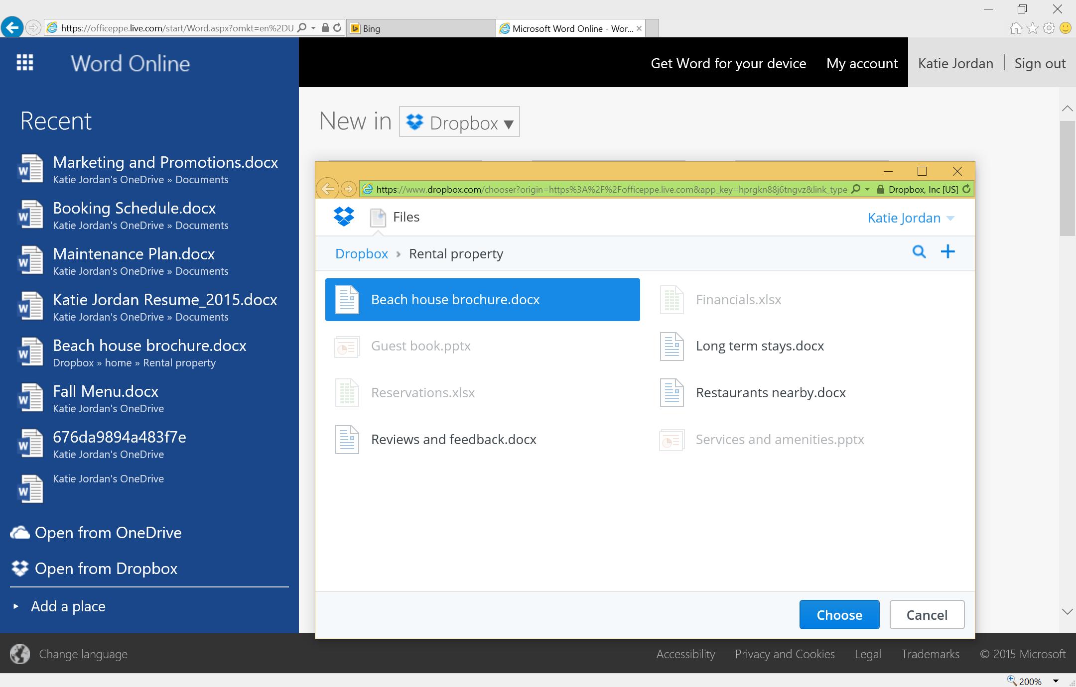 Dropbox Microsoft Integration