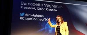 Cisco Canada president Bernadette Wightman at the Cisco Connect show in Toronto