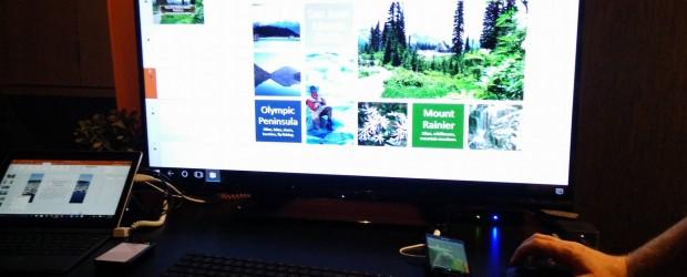 Windows Phone running as desktop Lumia
