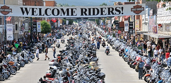 The Sturgis Motorcycle Rally in South Dakota