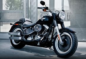 Harley Davidson FatBoy motorcycle