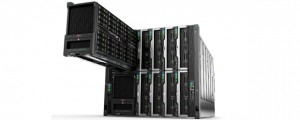 HPE Synergy with Storage Module pulled out