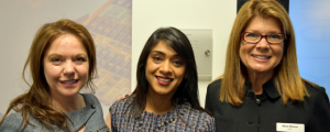 Cisco Canada president Bernadette Wightman, Canadian MP Bardish Chagger, and Cisco Americas leader Alison Gleason at the opening of the Toronto Innovation Centre where the Women Entrepreneurs' Circle was launched