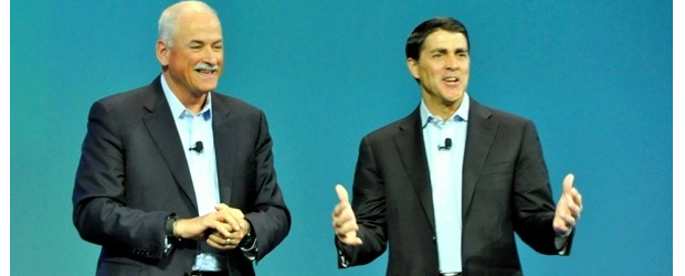 IBM's cloud VP Robert LeBlanc was joined by VMware president and COO Carl Eschenbach at IBM's InterConnect show in Las Vegas