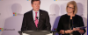 Mayor John Tory with Microsoft President Janet Kennedy