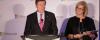 Mayor John Tory with Microsoft President Janet Kennedy