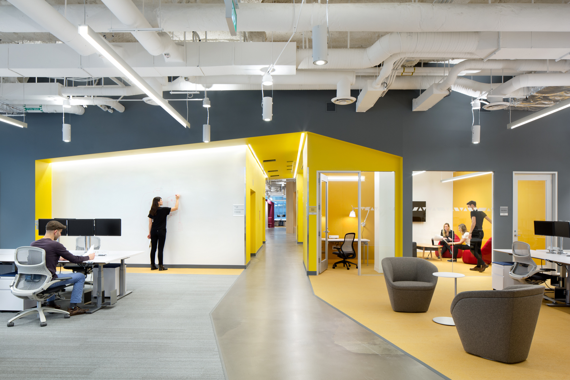 Photos of microsoft s brand new r d centre in downtown for Interior design companies vancouver