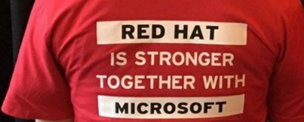 A T-Shirt wearing supporter at the Red Hat North America Partner Conference