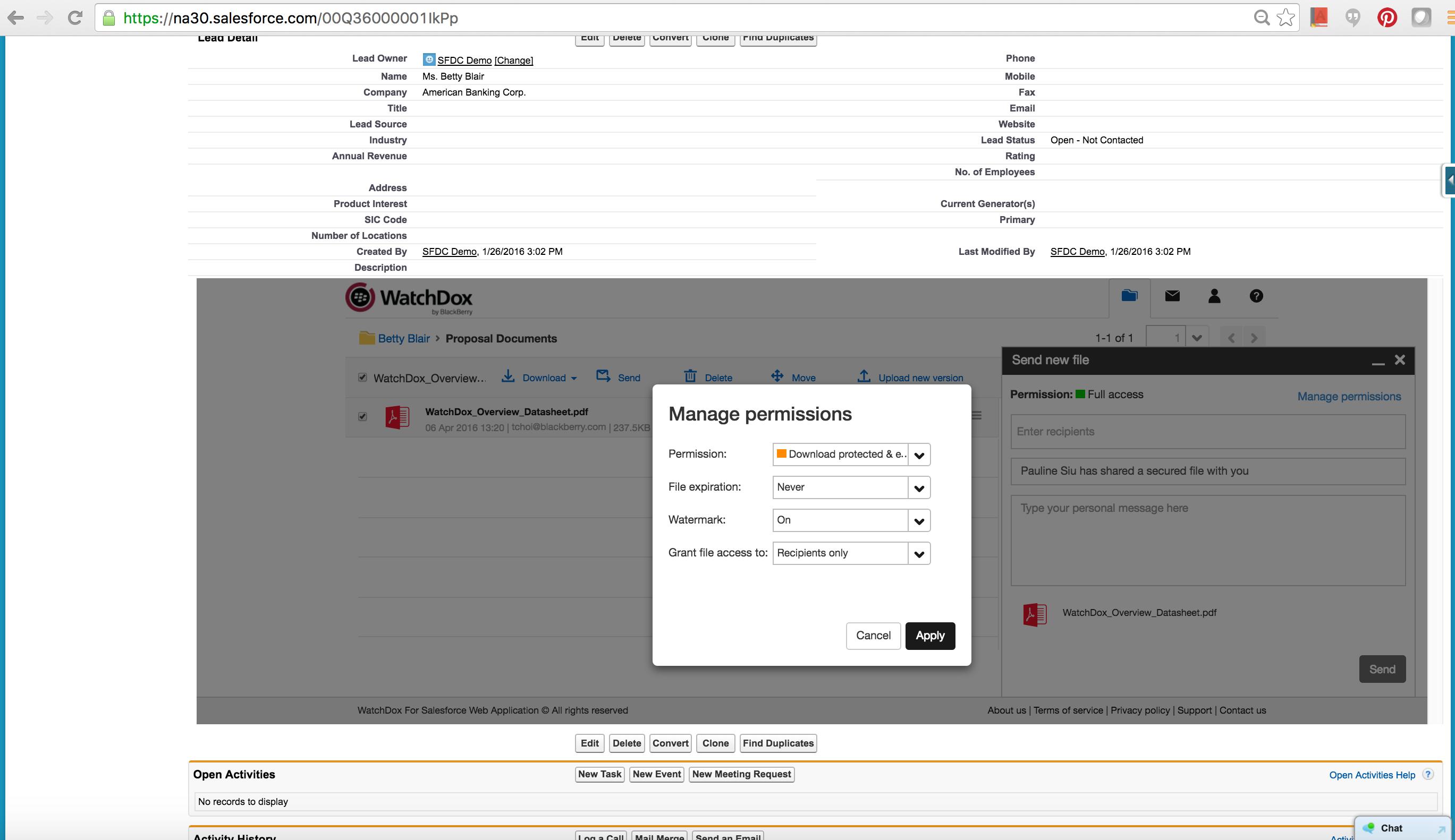 Watchdox Salesforce_Sharing_ENG