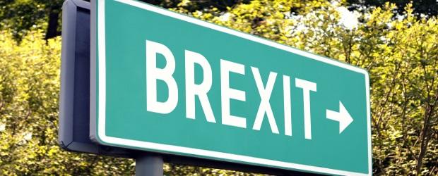 Brexit - next exit sign
