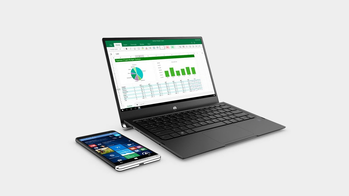 The HP Elite x3 pictured with the Lap Dock accessory