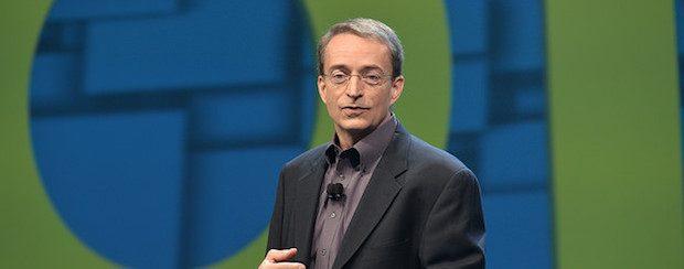 VMware CEO Pat Gelsinger during the keynote at VMworld Conference 2016