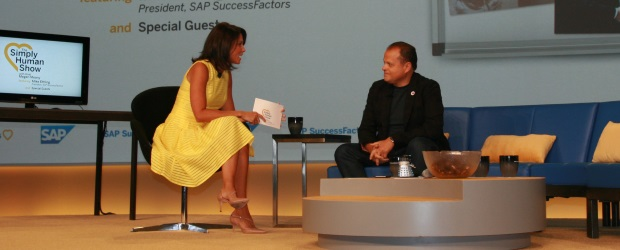 """Instead of delivering a speech on the first day of SAP's SuccessConnect 2016 conference, SuccessFactors president Mike Ettling was the featured guest at an """"un-keynote,"""" a morning show hosted by SAP's in-house online host, Fox News veteran Megan Meany."""