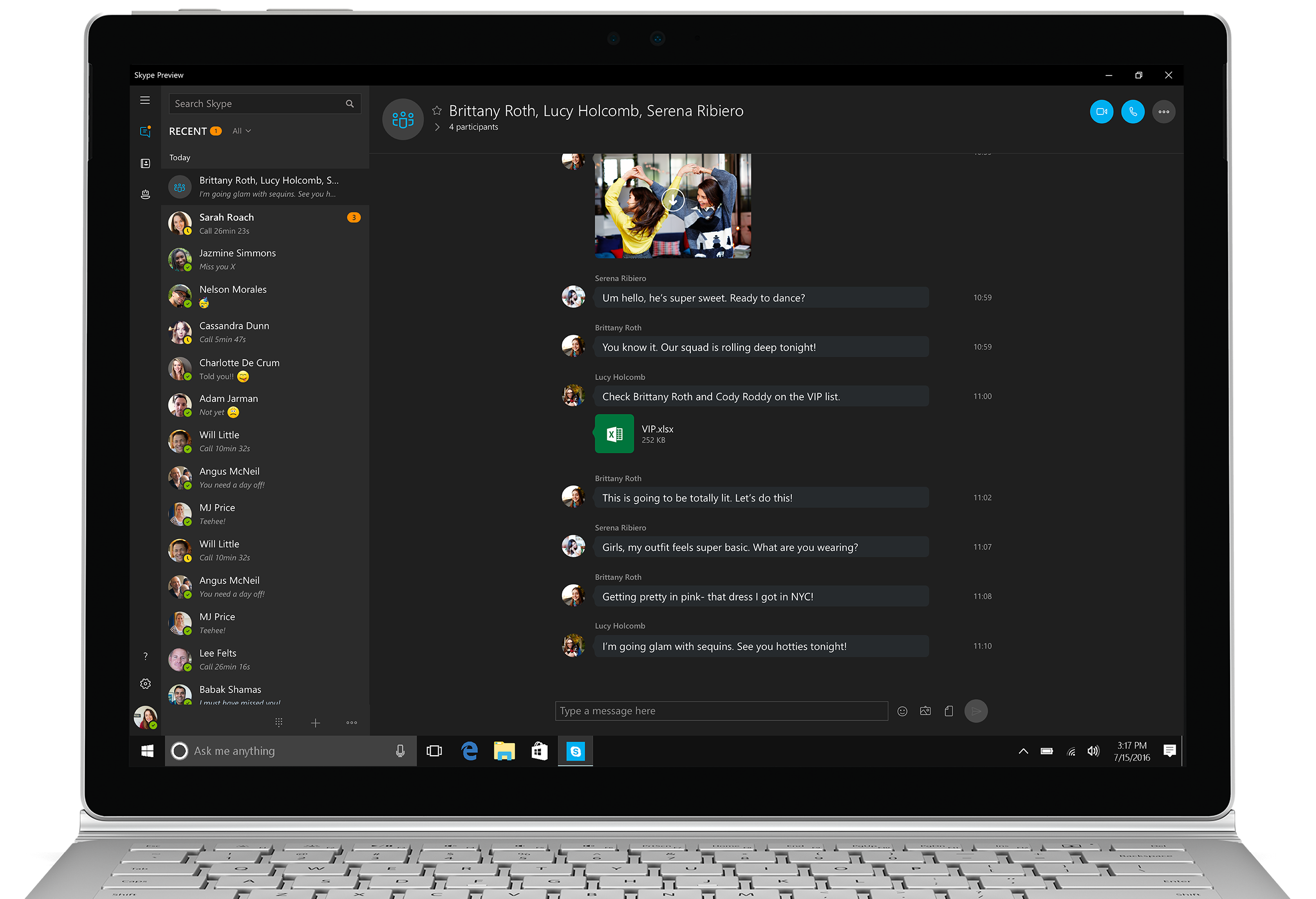Skype Preview 3
