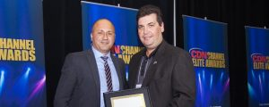 AMD Canada channel chief Hanif Mawji with IT Weapons' Gary Benezra