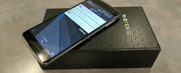 BlackBerry DTEK60 smartphone