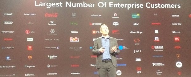 AWS CEO Andy Jassy shows list of new customers