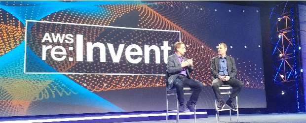 AWS CEO Andy Jassy with VMware CEO Pat Gelsinger at 2016 Re: Invent conference