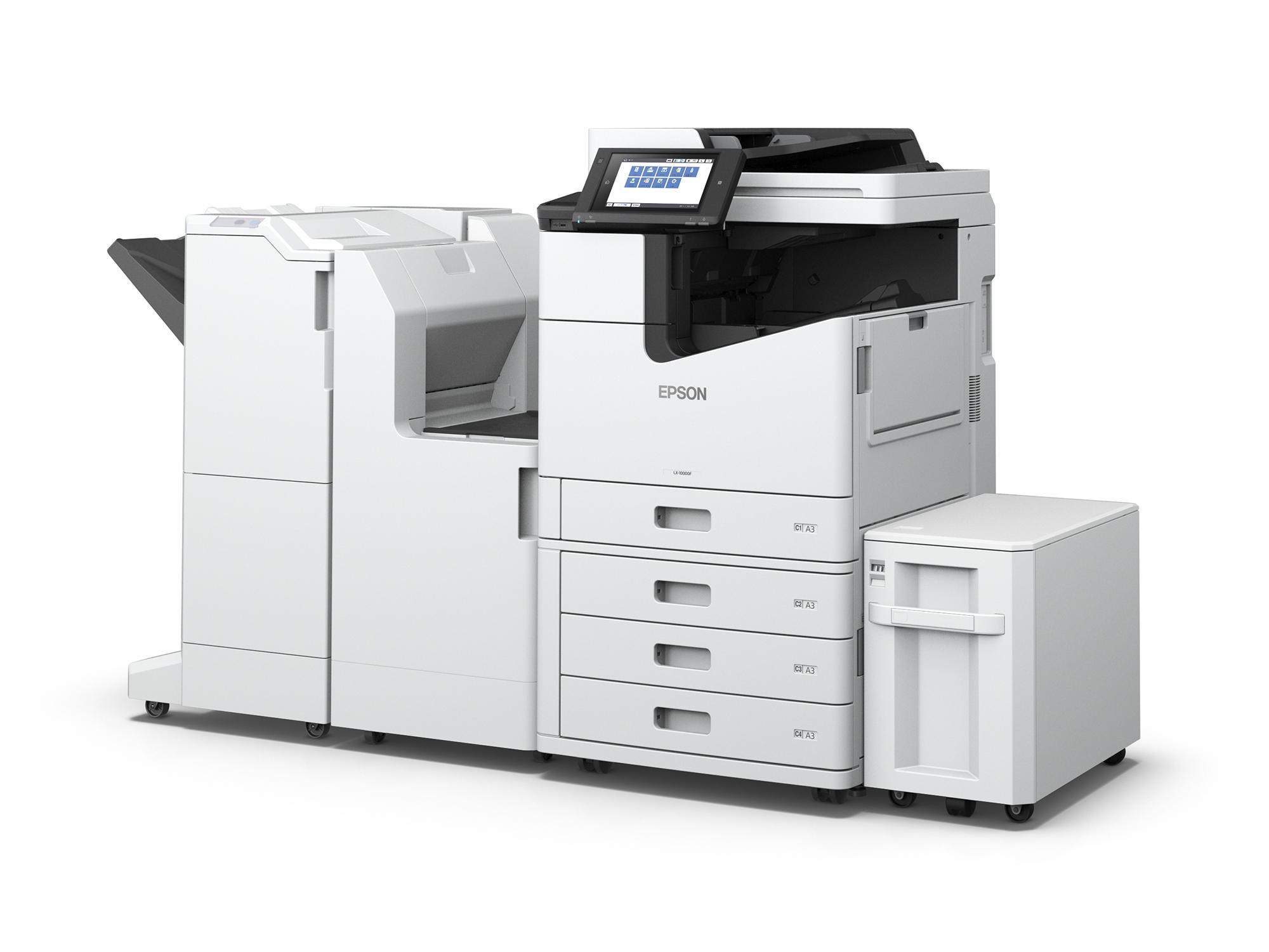 Epson WorkForce Enterprise WF-C20590 finisher, bridge unit and high capacity paper unit
