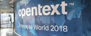 OpenText Enterprise World 2018 sign
