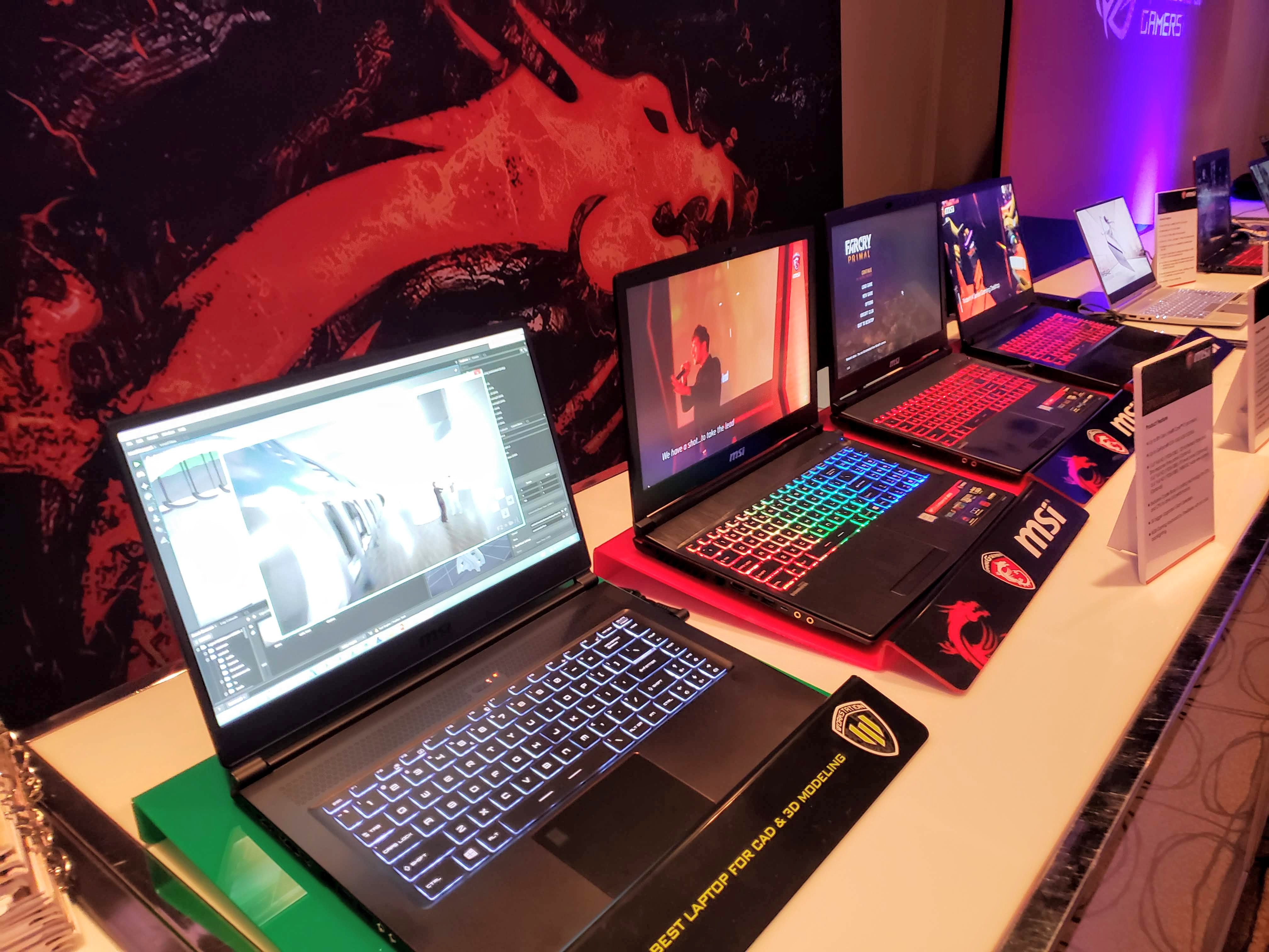 Intel Experience Day - LED colour laptops